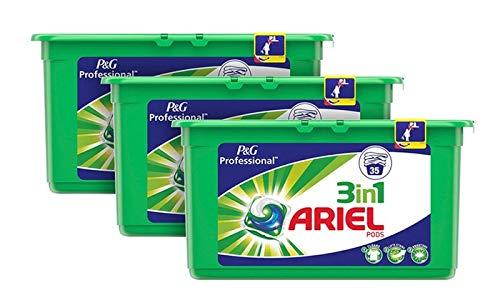 Ariel 3 En 1 Vainas Detergente Para La Ropa Regular 105 Unidades...