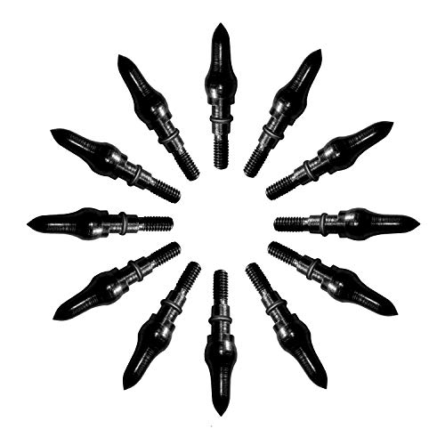 KESHES Archery Arrow Field Points Tips - Practice Target & Hunting Arrows Heads for Recurve, Compound Bow & Crossbow Bolts, Screw-in 100 Grain (12 Pack)