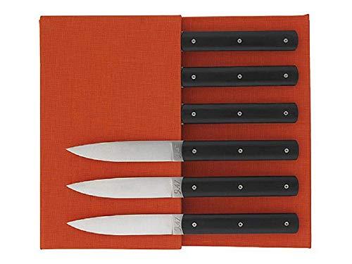 Coffret de couteaux de table noir
