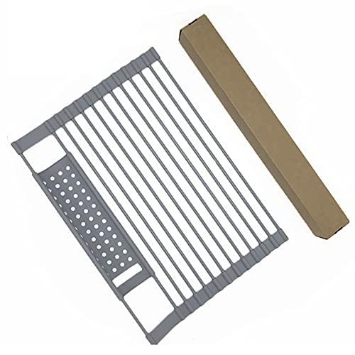 YinKuu Escurreplatos enrollables – Escurridor plegable de silicona para platos fácil de...
