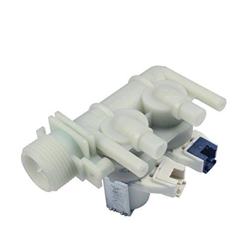 Magnetventil Einlaufventil Füllventil 2fach 180° 10,5mmØ Waschmaschine Original Ariston Indesit Hotpoint Scholtès C00110333 Whirlpool Bauknecht 482000022813