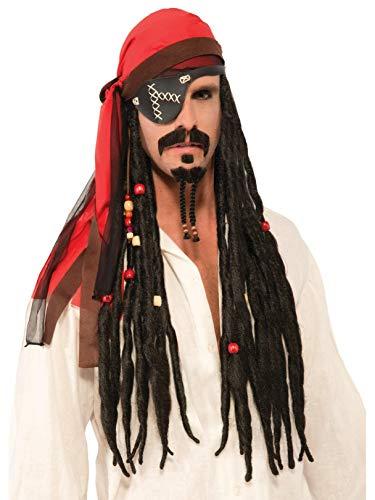 Forum Novelties Men's Wig-Headscarf with Dreads Party Supplies, Standard, Black