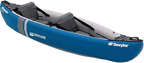 Robusto kayak de 2 personas, ideal para lagos, pesca y costas; su forma espaciosa combina estabilidad y comodidad en el agua; cuerdas elásticas en proa y popa La canoa para 2 personas viene con las válvulas Boston para un fácil inflado y desinflado r...