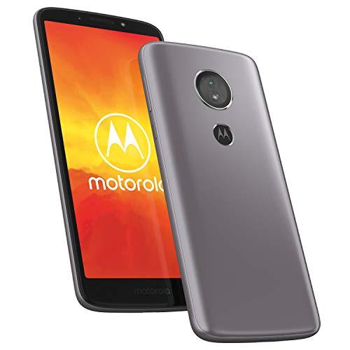 Smartphone Motorola Moto e5 de 14,48 cm (5,7 pulgadas) HD+ (procesador Quad-Core, cámara HDR de 13 MP, 4G LTE, 16 GB de memoria, Dual SIM, Android 8.0 Oreo), gris