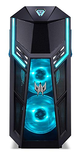 Predator Orion 5000 (PO5-605s) Gaming Desktop-PC (Intel Core i7-9700K, 16 GB RAM, 2.000 GB HDD + 512 GB PCIe SSD, NVIDIA GeForce RTX 2070 Super (8 GB GDDR6), Windows 10 Home) schwarz/blau
