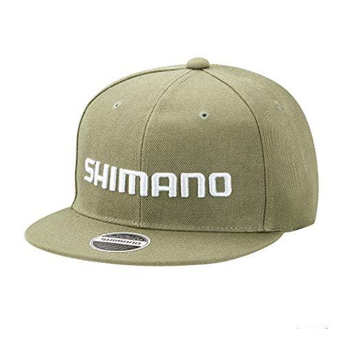 シマノ(SHIMANO) ベーシックフラットキャップ CA-066T カーキ F