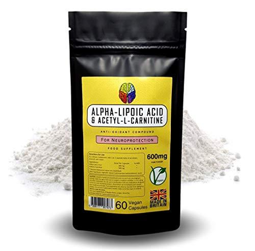 Alpha-Lipoic Acid & Acetyl-L-Carnitine by Soul Juice   60x 600mg Vegan Capsules   Brain Antioxidant Supplement (1)