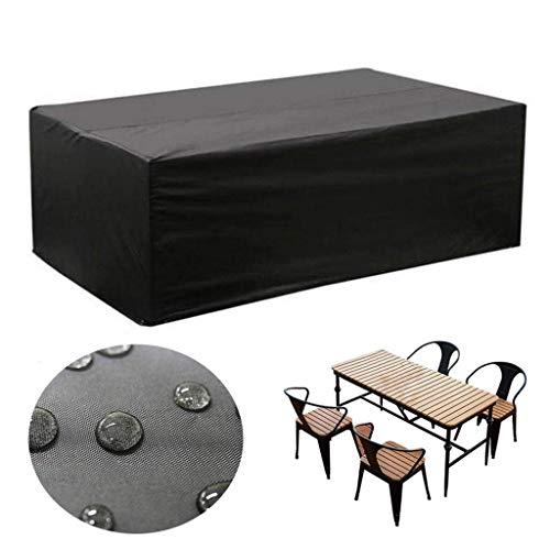 Black Dust Cover voor tuinmeubelen en Rechthoekige Stoelen, tuintafels en meubels,250 * 200 * 80cm