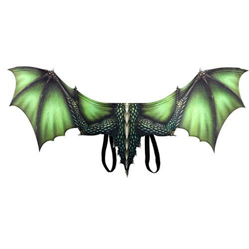 Xmiral Dinosaurierflügel Cosplay Kostüm Animal Wing Zubehör Halloween Cosplay Drachenflügel(Grün(Drachenflügel))
