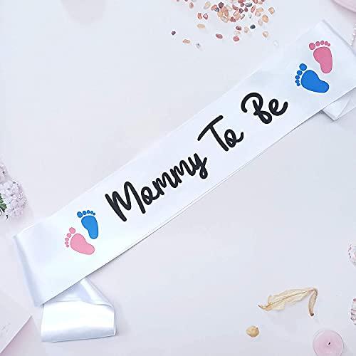Mami to Be Faja para baby shower, niño o niña, color rosa o azul, decoración de fiesta reveladora de género, revelación de sexo del bebé, ideas de regalo para mamá