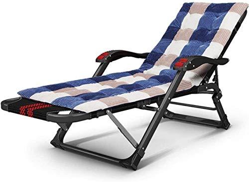 YXB Silla de Oficina, Tumbona Sillas de Camping Tumbonas de jardín Silla Plegable Tumbona Silla de Oficina Pijama de Playa portátil con Respaldo Ajustable para un sueño Multifuncional
