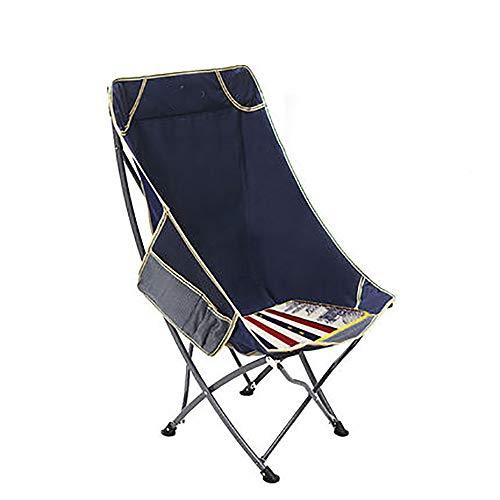 BLWX - Chaise pliante - Extérieur Portable Chaise pliante Chaise de pêche arrière Tabouret Chaise de plage pour loisirs Déjeuner Chaise Moon Chair Chaise pliante (Couleur : A)