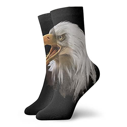 GXLLLW Calcetines deportivos de acuarela American Bald Eagle para hombres y mujeres, calcetín de elasticidad de poliéster suave