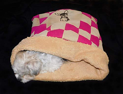 LunaChild Dog Cuddly Collar Dog Bed Rattler Praga 1 Nombre Snuggle Bag Tamaño S M o L disponible en 14 colores