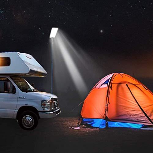 Tabanlly actividades al aire libre pesca barbacoa senderismo camping linterna para senderismo barbacoa camping Ca/ña de pescar telesc/ópica LED para exteriores