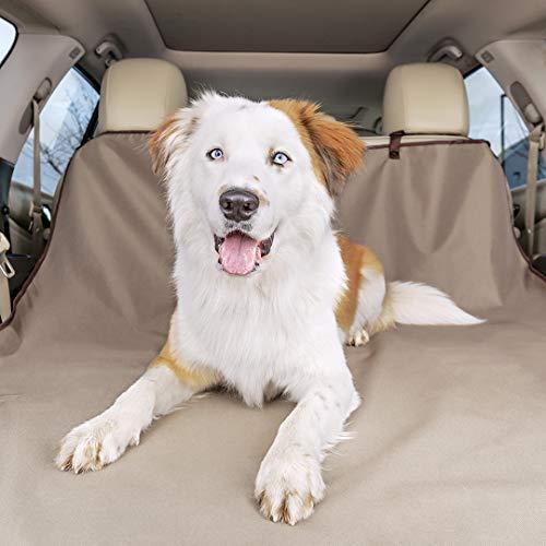 PetSafe Happy Ride Hundedecke Kofferraum, Kofferraumabdeckung, Hundedecke Auto Kofferraum, Einfaches Anbringen, Waschmaschinenfest, für Autos und SUVs, 178 cm x 127 cm, beige