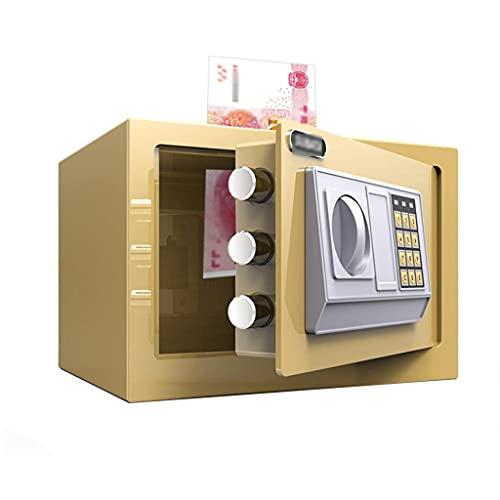 Caja fuerte de seguridad mejorada, caja fuerte para gabinete, caja de almacenamiento para mesita de noche, hucha de gran capacidad con cerradura de acero y panel de botones con contraseña, caja fuerte