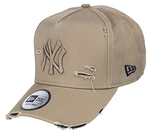 New Era York Yankees 9forty A Frame Adjustable cap Distressed Beige/Navy - One-Size