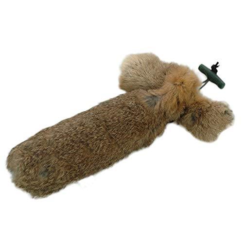 Romneys Kaninchendummy/Hasendummy | Standard-Dummy 500g mit echtem Fell überzogen | Wild-Apportel für die jagdliche Hundeausbildung