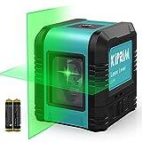 Nivel Láser de 5 m, Nivel Láser Cruzado Kiprim LV1R Láser Vertical / Horizontal de Doble Línea, IP54 a prueba de polvo, impermeable, antigoteo de 1 m, nivelación automática de ± 4 °