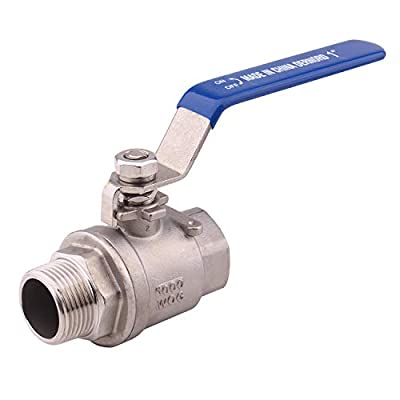 DERNORD Full Port Ball Valve 1 Inch - Male x Female Stainless Steel 304 Heavy Duty for Water, Oil, and Gas,1000WOG (1 Inch NPT) by DERNORD