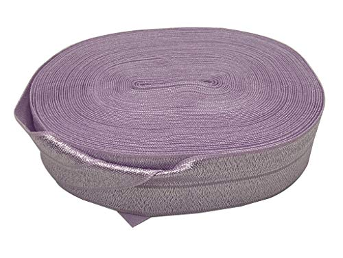 Bowtique Emilee 1' Elastic 10 yards Spool, Fold Over Elastic for Headbands, Hair Ties or other Sewing Projects (Lavender)