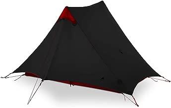 3F UL Gear 2018 Lancer 2 2 Person Oudoor Ultralight Camping Tent 3 Season Professional 15D Silnylon Rodless Tent Black