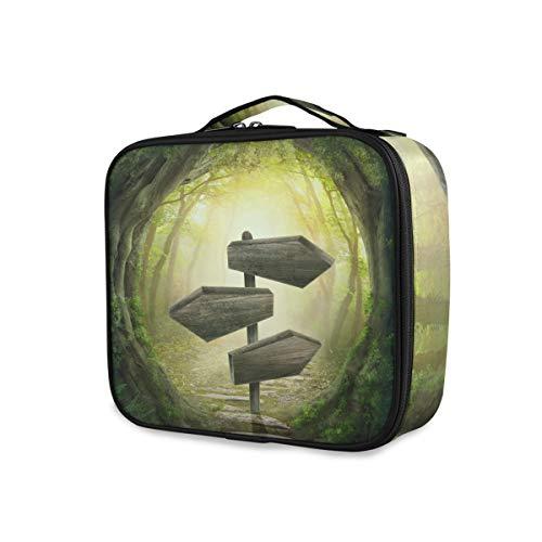Boîte de rangement Maquillage Sac Mystérieux Rêve Forêt Signe Passage Portable Outils Cosmétique Train Case Voyage Trousse De Toilette