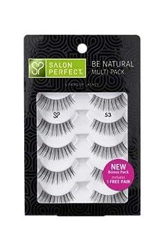 Salon Perfect Natural Multi Pack Eyelashes 53 Black 4 pr