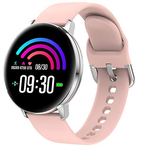 TD28 Smart Kijk Bloeddrukmeting Waterproof Smartwatch Mannen Vrouwen Heart Rate Oxygen Monitor Whatsapp Reminder Watches,Pink