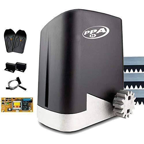 Motor de Portão Eletrônico Deslizante DZ Home 300kg 1/4 Pop Prog PPA 3 Metros e Meio de Cremalheira (220)