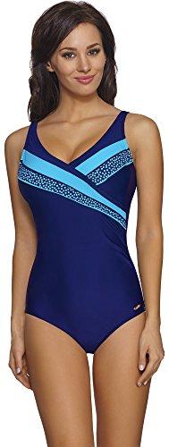 aQuarilla Bañadores Monokini Trajes de Baño 1 Pieza Ropa de Playa Verano Mujer 93L1N4 (Azul Claro, 40)