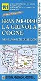 Piemont Wanderkarte, Karte, Landkarte: Gran Paradiso, La Grivola Cogne, Forzo, Noasca, Rosone, Pont Campiglia, Lillaz, topographische Wanderkarte 1:25.000, IGC