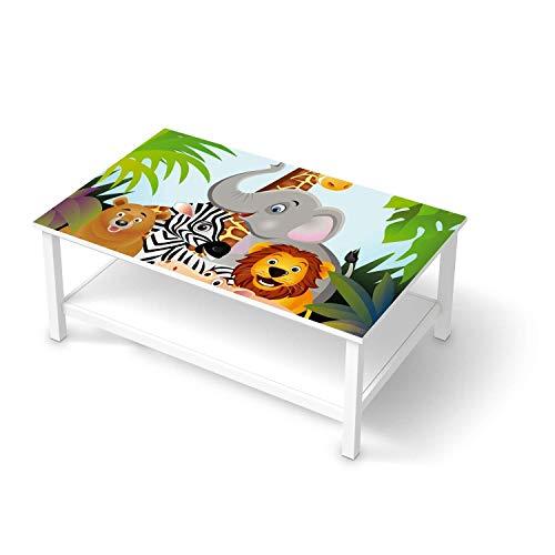 creatisto Möbelfolie für Kinder - passend für IKEA Hemnes Couchtisch 118x75 cm I Tolle Möbeldeko für Kinderzimmer Deko I Design: Wild Animals