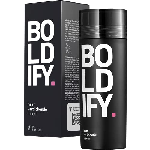 BOLDIFY Hair Fibers for Thinning Hair (DARK BROWN) Undetectable & Natural - Giant 28g Bottle - Completely Conceals Hair Loss in 15 Sec - Hair Thickener & Topper for Fine Hair for Women & Men