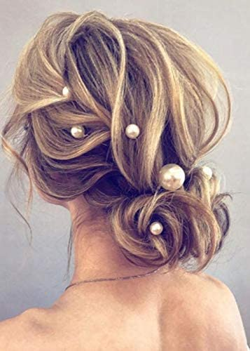 Kercisbeauty 10PCS Pearl Hair Pins for Women Wedding Bridal Jewelry Boho Vintage Hair Piece product image