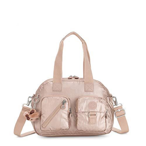 Kipling Defea Metallic Handbag Quartz Metallic