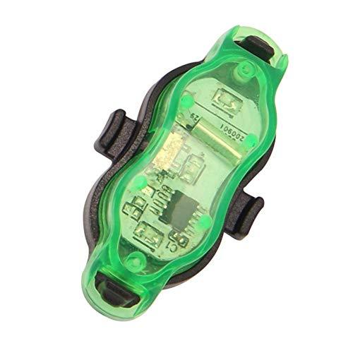 EElabper Ruedas De Bicicleta Luces Luces del Rayo Impermeable Led Recargable Lámparas para Vespa Segura Advertencia Bici De Llanta Neumático Verde