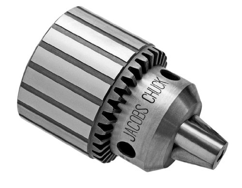 "Jacobs 6309D Heavy Duty Plain Bearing Drill Chuck, 3 Jacobs Taper Mount, 0.18"" to 0.80"" Drill Bit Capacity, K4 Key"