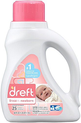 Dreft Stage 1: Newborn Liquid Laundry Detergent (HE), 40 Fl oz, 25 loads