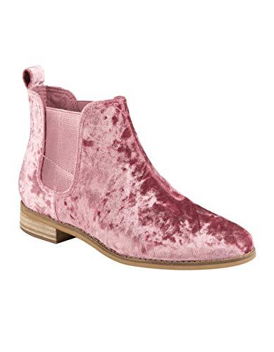TOMS Women's Ella Novelty Textile Bootie, Size: 5 B(M) US, Color: Faded Rose Velvet