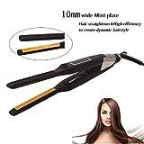 WOLJW 2 in 1 Haarglätter Flat Iron Aluminiumbleche Platte PTC Schnelle Heizung Lockenwickler Temperatur Einstellbare Hair Styling Werkzeuge