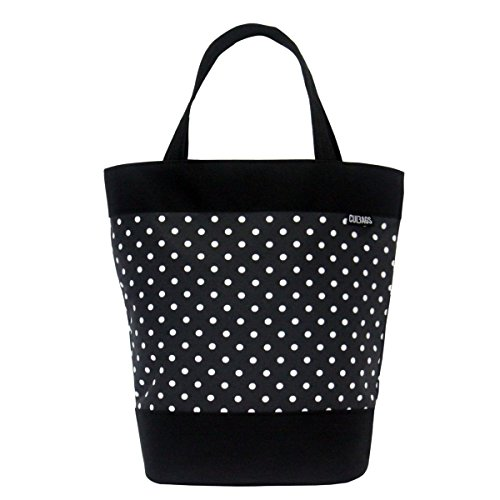 C-BAGS SHOPPER POLKA DOTS Gepäckträger Fahrradtasche Tasche verschiedene Muster (black-white)
