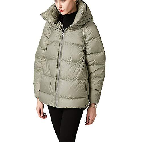 BIXUYAO dames donsjack/winter dikker warm capuchon donsjack vrije tijd rits staande kraag jassen