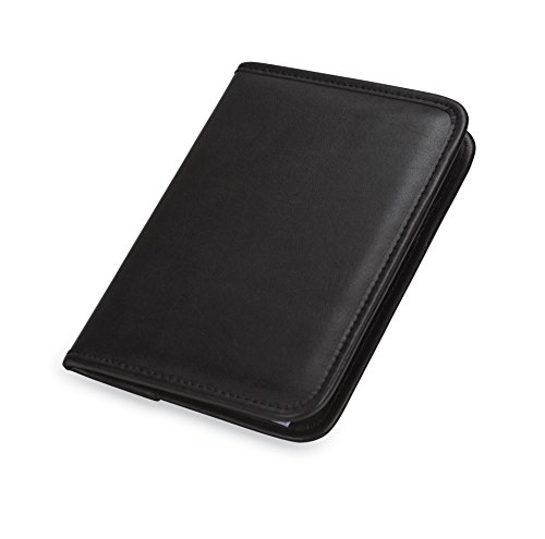 Samsill 70811 Professional Junior Padfolio/Business Portfolio, Mini 5 x 8 Writing Pad Included, Black