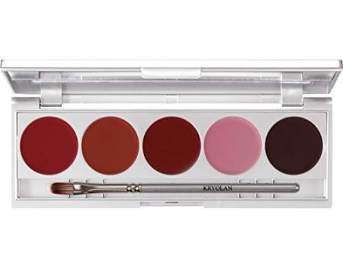 Kryolan 1215 Lip Rouge Set 5 Farben, 10g, Farbe  LRS121