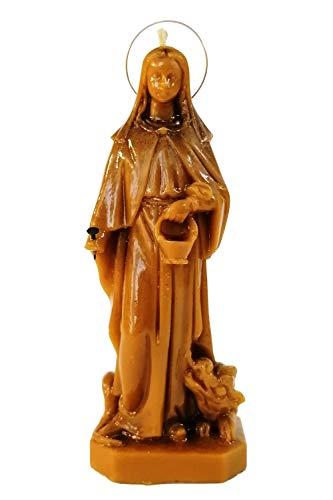 Candle Art Vela Santa Marta Protectora de la Familia, Cera de Abeja con Plantas, RITUALIZADA