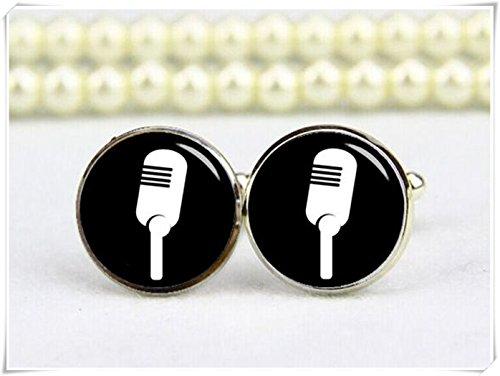 Beautiful Dandelion Gemelos de micrófono, micrófono retro, gemelos...