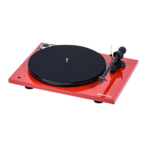 Pro-Ject Essential III RecordMaster Turntable - Gloss Red