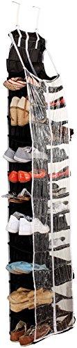 infactory Schuhregal: Hängendes Regal mit 30 Fächern, für Kleidung, Wäsche und Schuhe (Schuhregal zum Aufhängen)